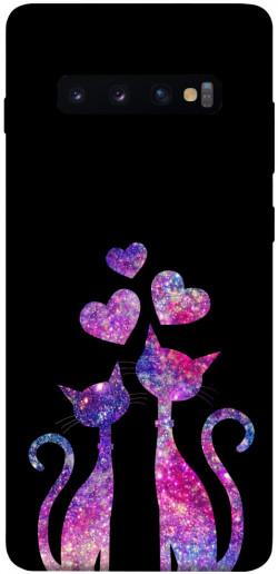Чехол iPrint Космические коты для Samsung Galaxy S10+