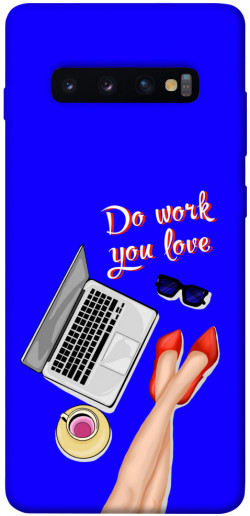 Чехол itsPrint Do work you love для Samsung Galaxy S10+