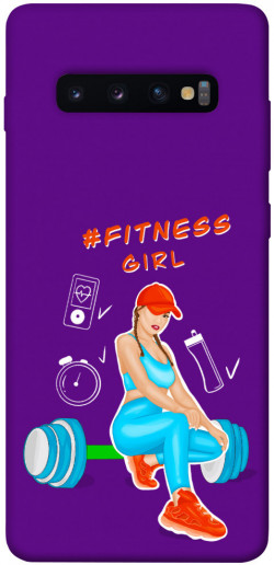 Чехол itsPrint Fitness girl для Samsung Galaxy S10+