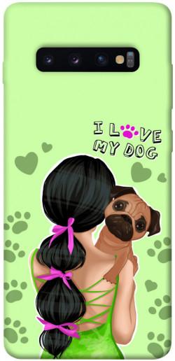 Чехол itsPrint Love my dog для Samsung Galaxy S10+
