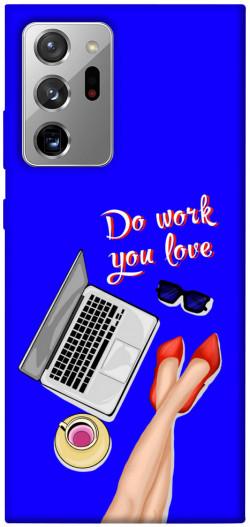 Чехол itsPrint Do work you love для Samsung Galaxy Note 20 Ultra