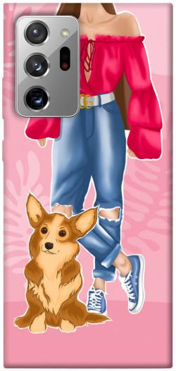 Чехол itsPrint Girl and corgi для Samsung Galaxy Note 20 Ultra
