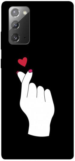 Чехол iPrint Сердце в руке для Samsung Galaxy Note 20