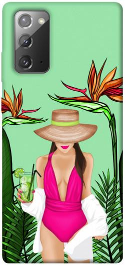 Чехол itsPrint Tropical girl для Samsung Galaxy Note 20