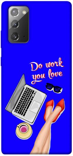 Чехол itsPrint Do work you love для Samsung Galaxy Note 20