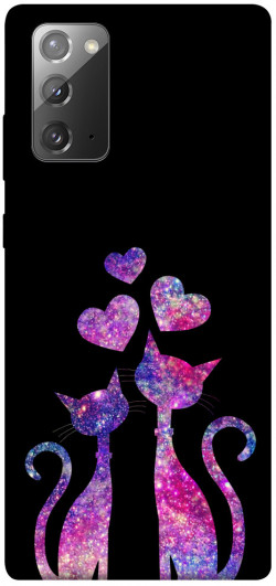 Чехол iPrint Комические коты для Samsung Galaxy Note 20