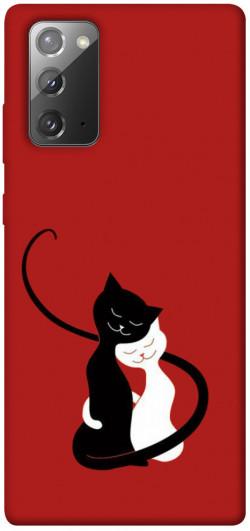 Чехол iPrint Влюбленные коты для Samsung Galaxy Note 20