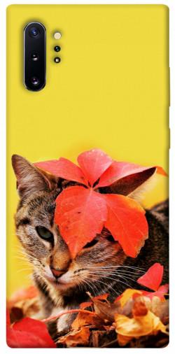 Чехол itsPrint Осенний котик для Samsung Galaxy Note 10 Plus