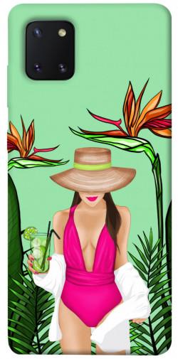 Чехол itsPrint Tropical girl для Samsung Galaxy Note 10 Lite (A81)
