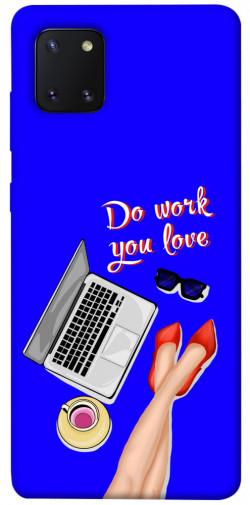 Чехол itsPrint Do work you love для Samsung Galaxy Note 10 Lite (A81)