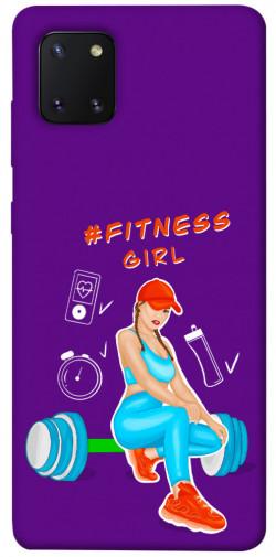 Чехол itsPrint Fitness girl для Samsung Galaxy Note 10 Lite (A81)