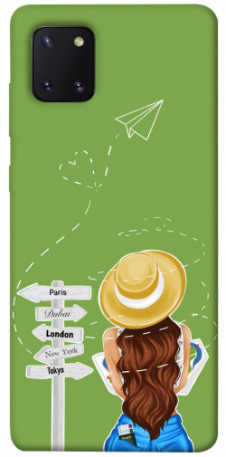 Чехол itsPrint Travel girl для Samsung Galaxy Note 10 Lite (A81)