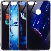 TPU+Glass чехол светящийся в темноте для Huawei P smart / Enjoy 7S