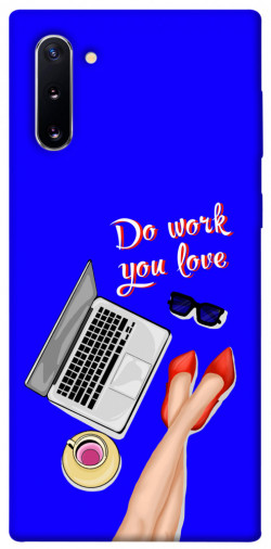 Чехол itsPrint Do work you love для Samsung Galaxy Note 10