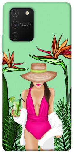 Чехол itsPrint Tropical girl для Samsung Galaxy S10 Lite