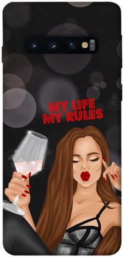 Чехол itsPrint My life my rules для Samsung Galaxy S10