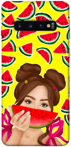 Чехол itsPrint Watermelon girl для Samsung Galaxy S10