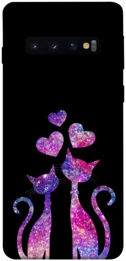 Чехол iPrint Космические коты для Samsung Galaxy S10