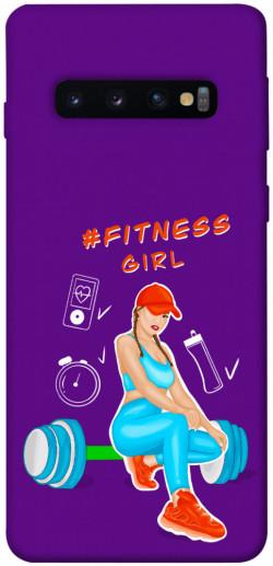 Чехол itsPrint Fitness girl для Samsung Galaxy S10