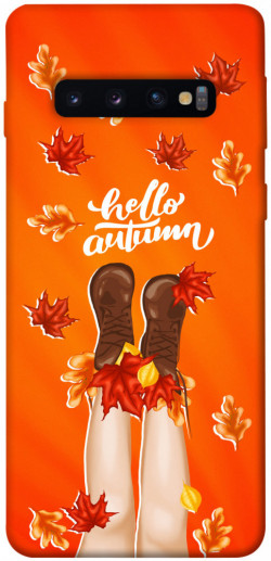 Чехол itsPrint Hello autumn для Samsung Galaxy S10