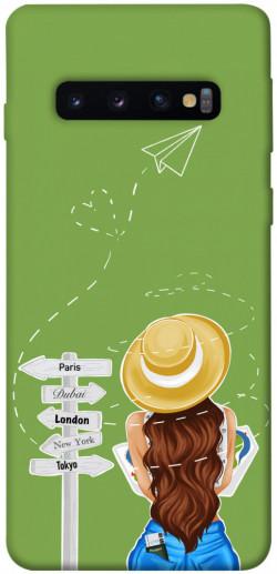Чехол itsPrint Travel girl для Samsung Galaxy S10