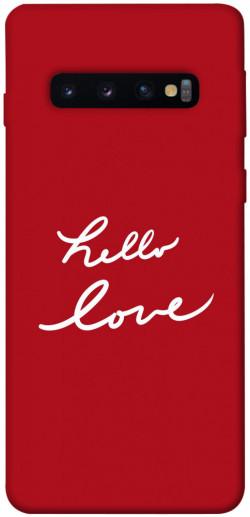 Чехол iPrint Hello love для Samsung Galaxy S10