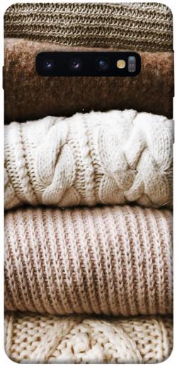 Чехол itsPrint Knitted aesthetics для Samsung Galaxy S10