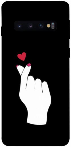 Чехол iPrint Сердце в руке для Samsung Galaxy S10