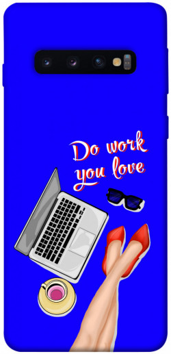 Чехол itsPrint Do work you love для Samsung Galaxy S10
