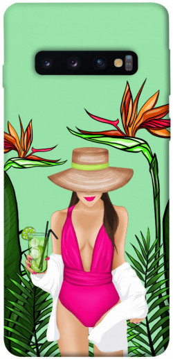 Чехол itsPrint Tropical girl для Samsung Galaxy S10