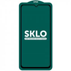 Защитное стекло SKLO 5D (full glue) (тех.пак) для Samsung Galaxy A03s