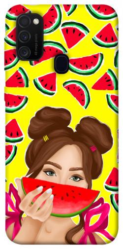 Чехол itsPrint Watermelon girl для Samsung Galaxy M21