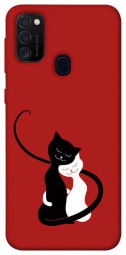 Чехол iPrint Влюбленные коты для Samsung Galaxy M21