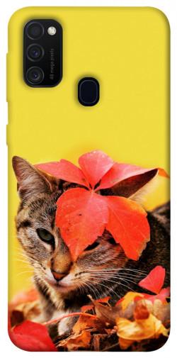 Чехол itsPrint Осенний котик для Samsung Galaxy M21