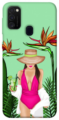 Чехол itsPrint Tropical girl для Samsung Galaxy M21