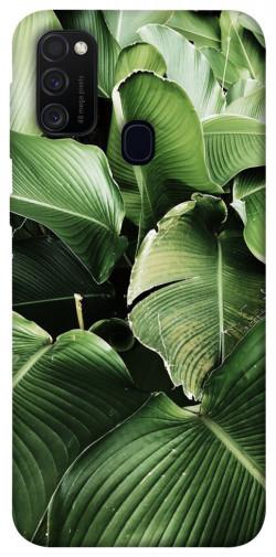 Чехол itsPrint Тропическая листва для Samsung Galaxy M21
