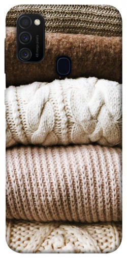 Чехол itsPrint Knitted aesthetics для Samsung Galaxy M21