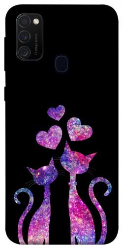 Чехол iPrint Комические коты для Samsung Galaxy M21