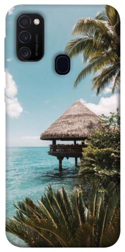 Чехол itsPrint Тропический остров для Samsung Galaxy M21