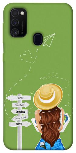 Чехол itsPrint Travel girl для Samsung Galaxy M21