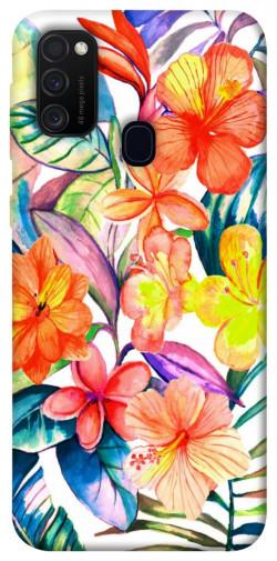Чехол itsPrint Цветочный коктейль для Samsung Galaxy M21