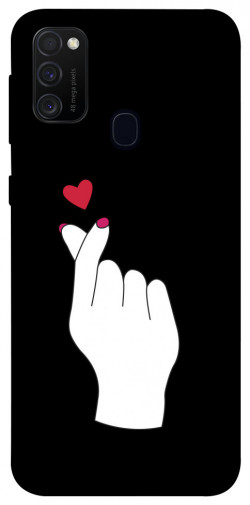 Чехол iPrint Сердце в руке для Samsung Galaxy M21