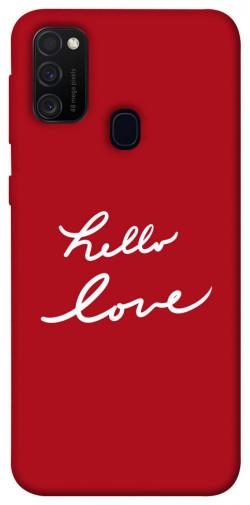 Чехол iPrint Hello love для Samsung Galaxy M21
