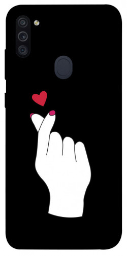 Чехол iPrint Сердце в руке для Samsung Galaxy M11