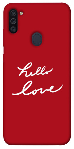 Чехол iPrint Hello love для Samsung Galaxy M11