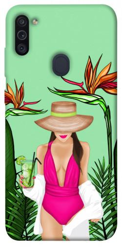 Чехол itsPrint Tropical girl для Samsung Galaxy M11