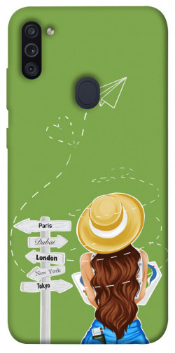 Чехол itsPrint Travel girl для Samsung Galaxy M11