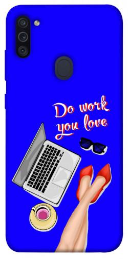 Чехол itsPrint Do work you love для Samsung Galaxy M11