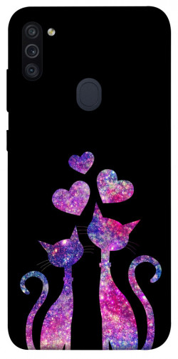 Чехол iPrint Комические коты для Samsung Galaxy M11