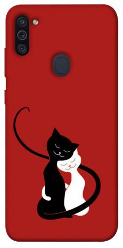 Чехол iPrint Влюбленные коты для Samsung Galaxy M11